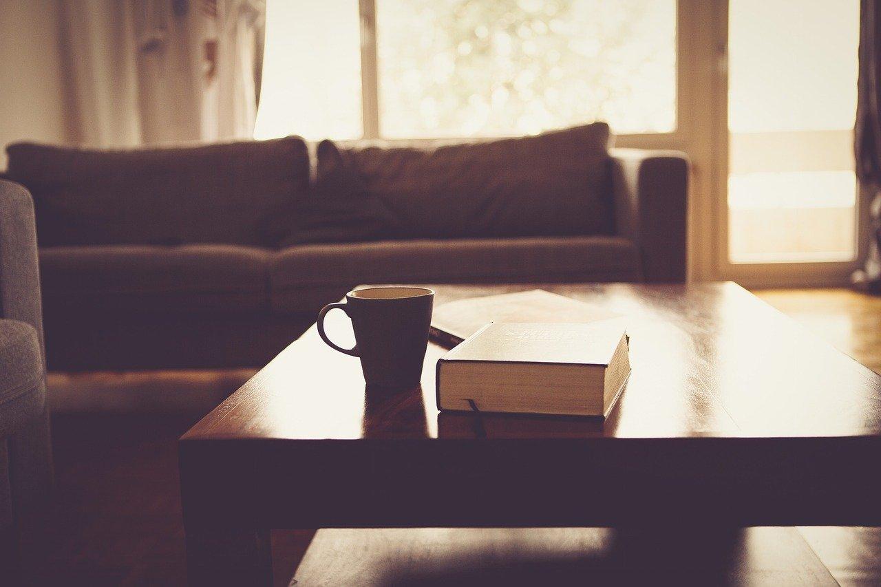 Sofa, regał i stół – ożyw wnętrze z brązowymi meblami